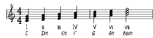 vong hop am tu C major scale