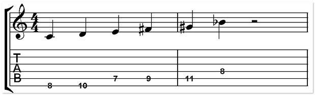 C whole tone scale