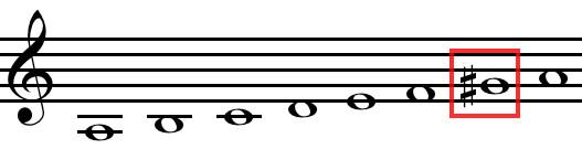 A harmonicMinor
