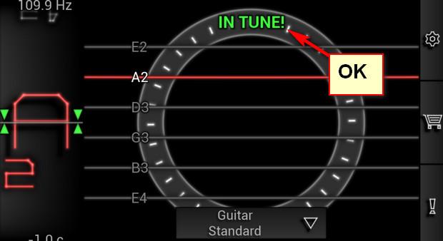 Hướng dẫn lên dây đàn guitar bằng app PitchLab trên điện thoại