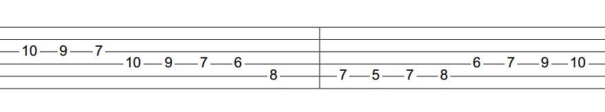 Câu riff Metal dùng harmonic minor phần 4