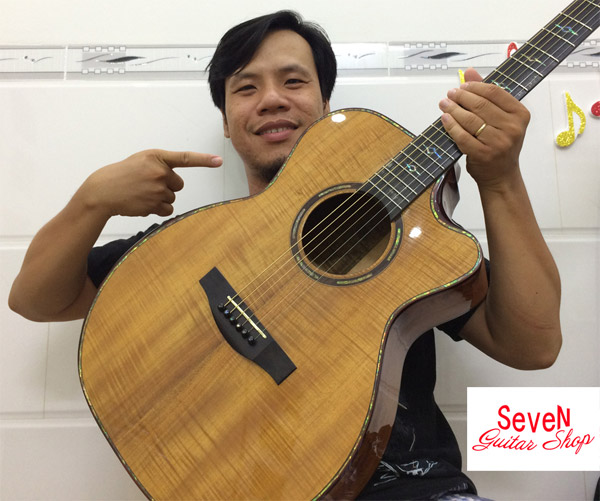 Đàn guitar full gỗ KOA - ADK55 chất lượng quốc tế, giá cực sốc