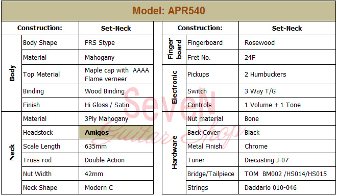 Specification-APR540