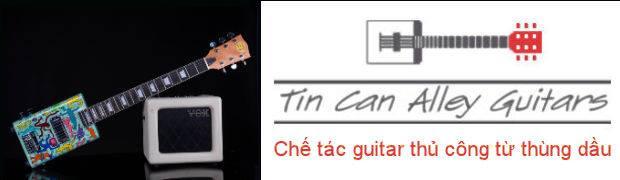 Xem cây guitar độc đáo Tin Can Alley